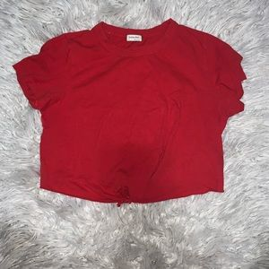 Aritzia red crop top